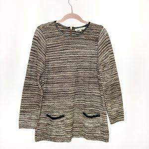 Eight eight eight Striped Tunic Sweater Top